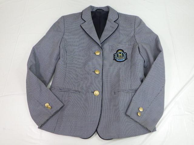 c01 福岡県 博多高校 ブレザー+長袖シャツ+スカート+リボン/yt1824【3APCI】