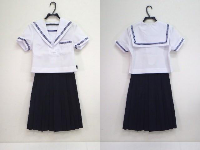k143 高倉市立中学校 夏服セーラー服+夏服スカート+スカーフ/yt1332【4SFE】