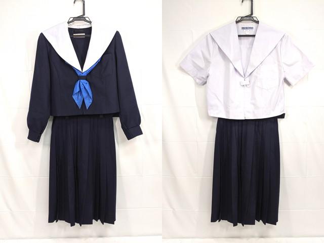 W66 高針台中学校 冬服・夏服セーラー服+冬服スカート++/yt2218【7VAL】