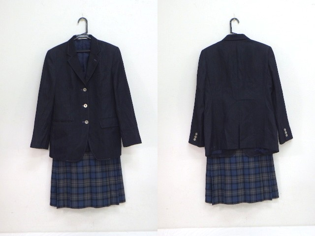c14 京都学園高校 ブレザー+冬服スカート/yt1831【12APF】