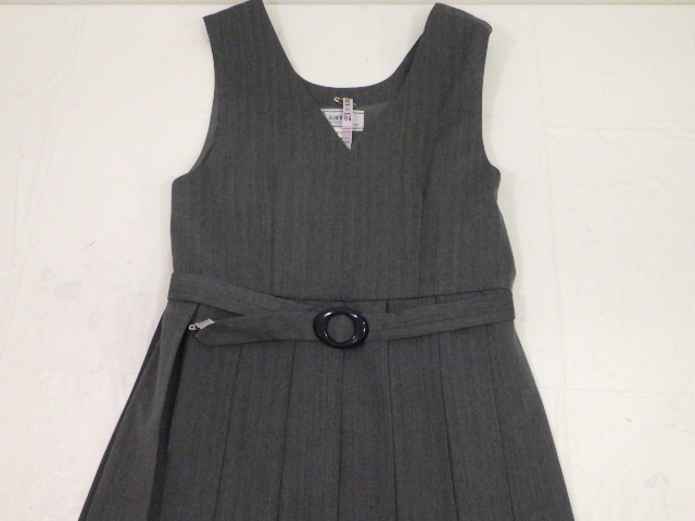 T414 広島 段原中学校 ジャンパースカート+半袖ポロシャツ/yt1121【45RT】