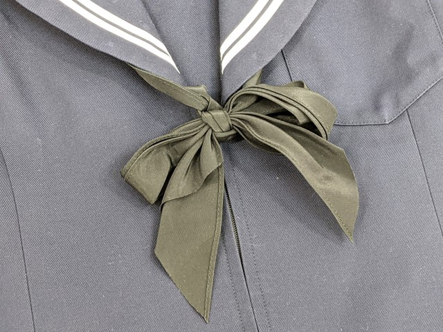 g63 長久手中学校 オリーブデオリーブ 冬服セーラー服+冬服スカート+スカーフ/yt2324【6CHR】