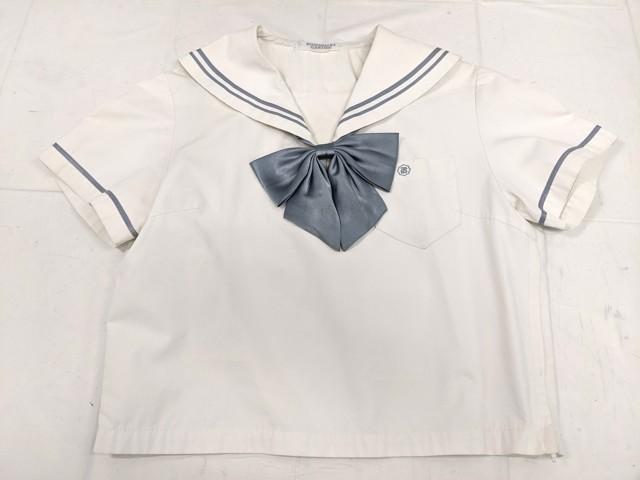 W10 名古屋女子高校 夏服セーラー服+スカート+リボン/yt2138【23CJF】