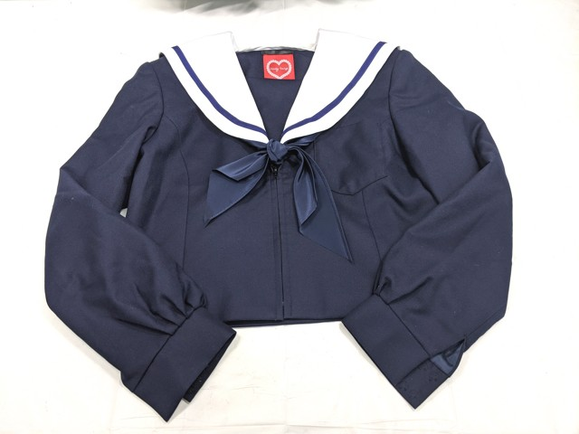 W73 名古屋市立山田中学校 冬服セーラー服+冬服スカート+スカーフ/yt2224【1HXDE】