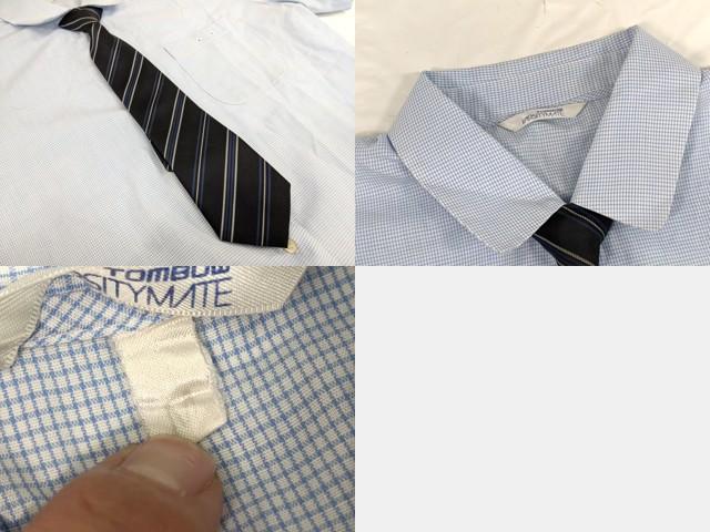 j66 大阪府 西陵中学校 半袖シャツ+夏服スカート+ネクタイ/yt2629【8EFC】