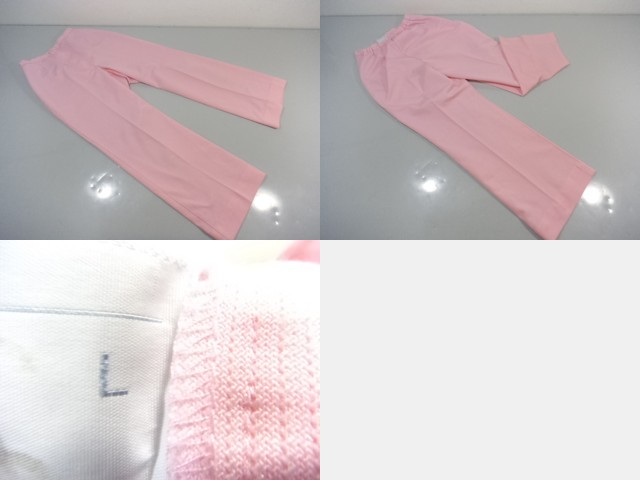 作業服 制服 ナース服上下 ピンク/L ナガイレーベン 6点セット/10yt367【18dk】