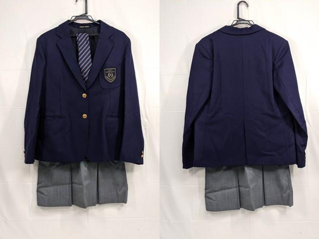 g70 都立国際高校 ブレザー+冬服・夏服スカート+ネクタイなど6点/yt2331【15CJE】