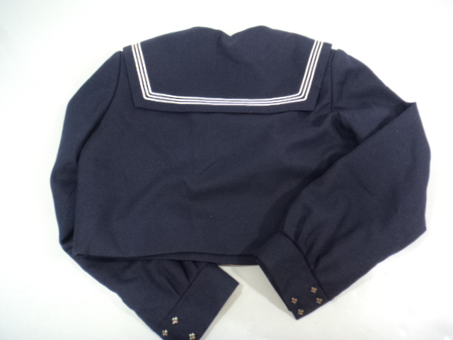 T287 福岡市立下山門中学校 冬服セーラー服+ジャンパースカート サイズ160/yt0271【9QHK】