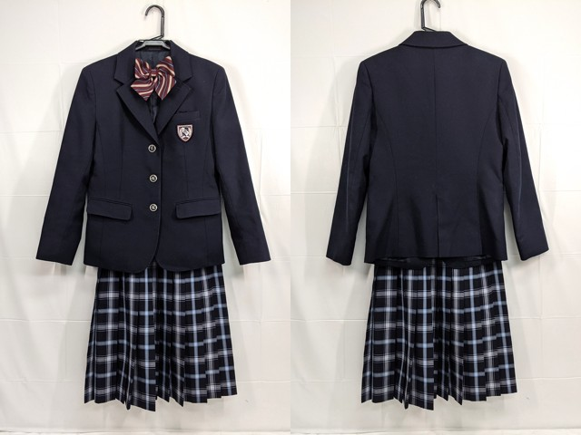 X67 神丘中学校 ブレザー+夏服・冬服スカート+リボン/yt2334【6XVJ】
