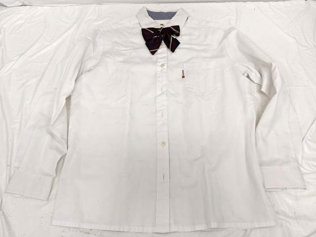 j04 東京都 貞静高校 ブレザー+長袖シャツ+セーター+冬服スカート+リボン/yt2535【33PEL】