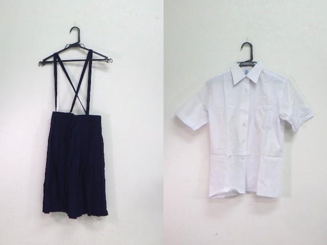 a03 中学校?? 高校?? 半袖シャツ+サスペンダー付きスカート/yt1947【1ZJV】