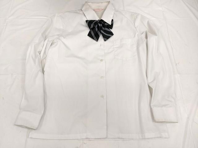 X82 愛知県五条高校 ブレザー+長袖ブラウス+冬服スカート+長袖シャツ+リボン/yt2337【18XHE】