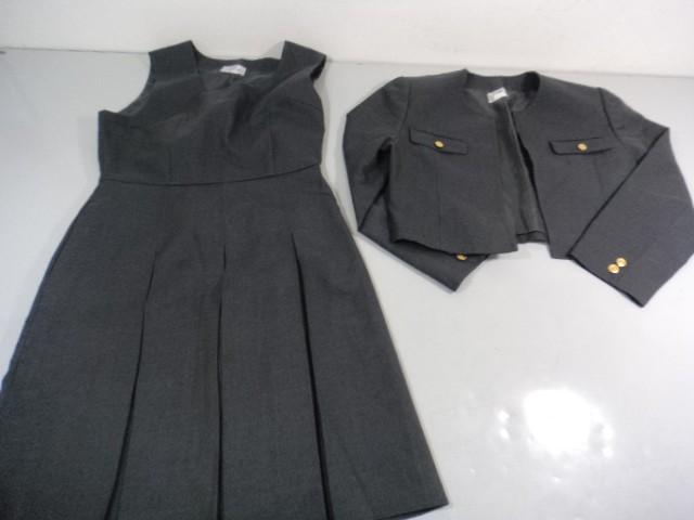 V44 中学校 高校 女子制服 ブレザー+ジャンパースカート 2点セット/yt0041