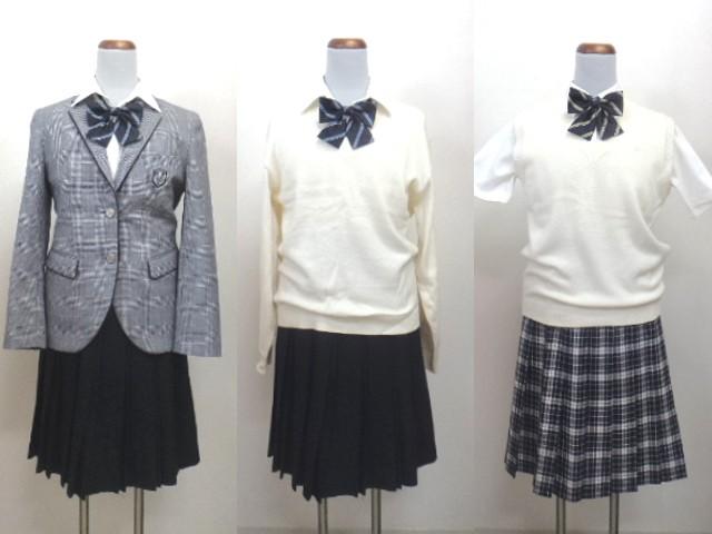 Y47 三重県 津田学園高校 ブレザー スカート ブラウス リボン/yt0106