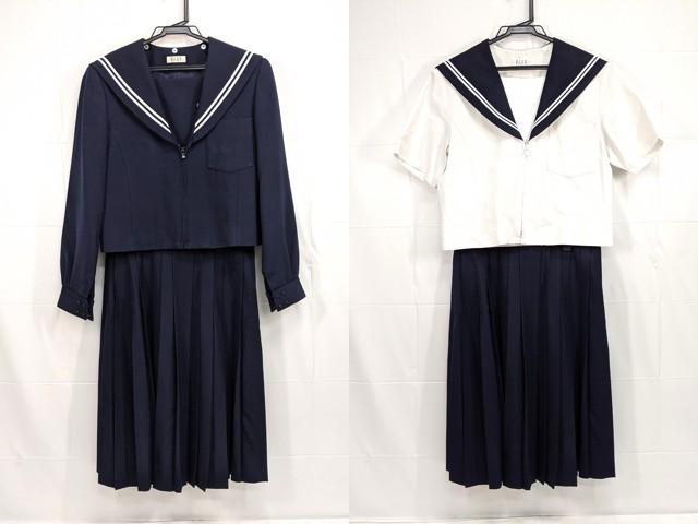 X84 有松中学校 冬服・夏服セーラー服+冬服スカート/yt2343【6XLE】