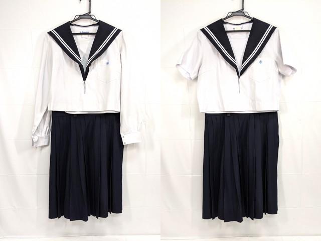 X84 中村高校 夏服・中間服セーラー服+夏服スカート/yt2345【12XMR】