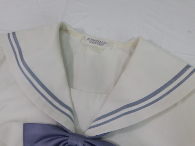 S35 名古屋女子高校?? 中学校?? 夏服セーラー服+冬服スカート+リボン/yt1959【23KFGJ】