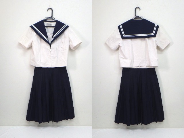 U54 中学校?? 高校?? 夏服セーラー服+夏服スカート/yt2045【3XHS】