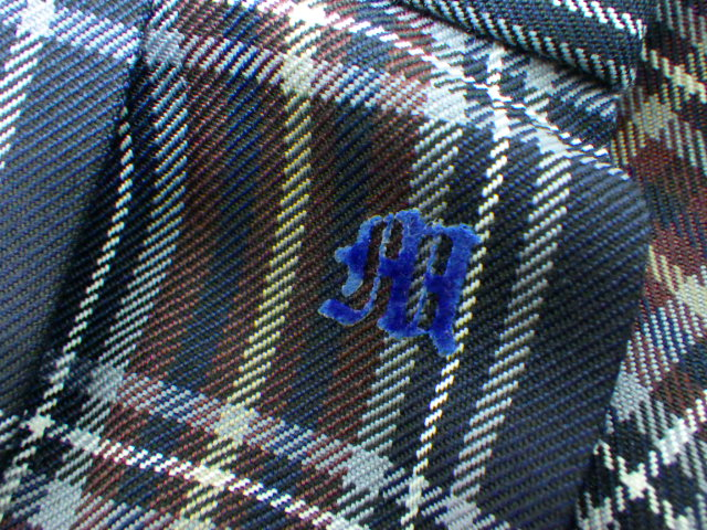 N40 愛知県 守山高校 ブレザー+カーデガン+冬スカート+リボン/yt1264【15EGR】
