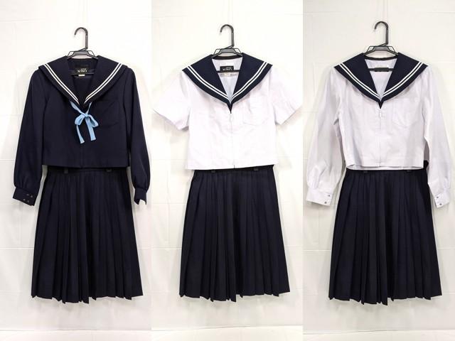 X83 常滑高校 冬服・中間服・夏服セーラー服+冬服スカート/yt2350【15CNR】