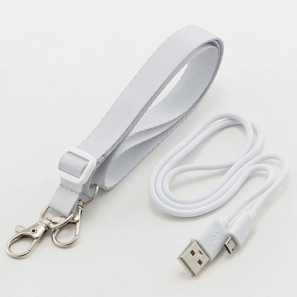 ハンディミストファン 携帯扇風機 USB充電扇風機 ハンディファン ネックストラップ付 HMF1 スケーター