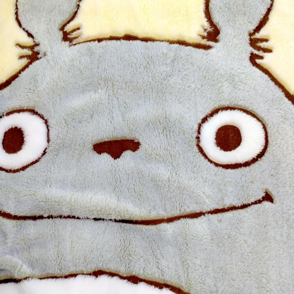 となりのトトロ 葉っぱと木の実 シングル 毛布 シープボア 約140×200cm スタジオジブリキャラクター毛布 丸眞