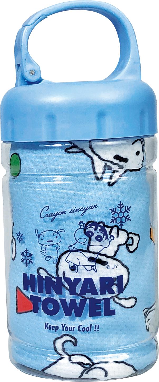 キャラクター ひんやり ロングタオル ボトル入り クールタオル クレヨンしんちゃん スヌーピー ミニオンズ 冷感タオル 225537