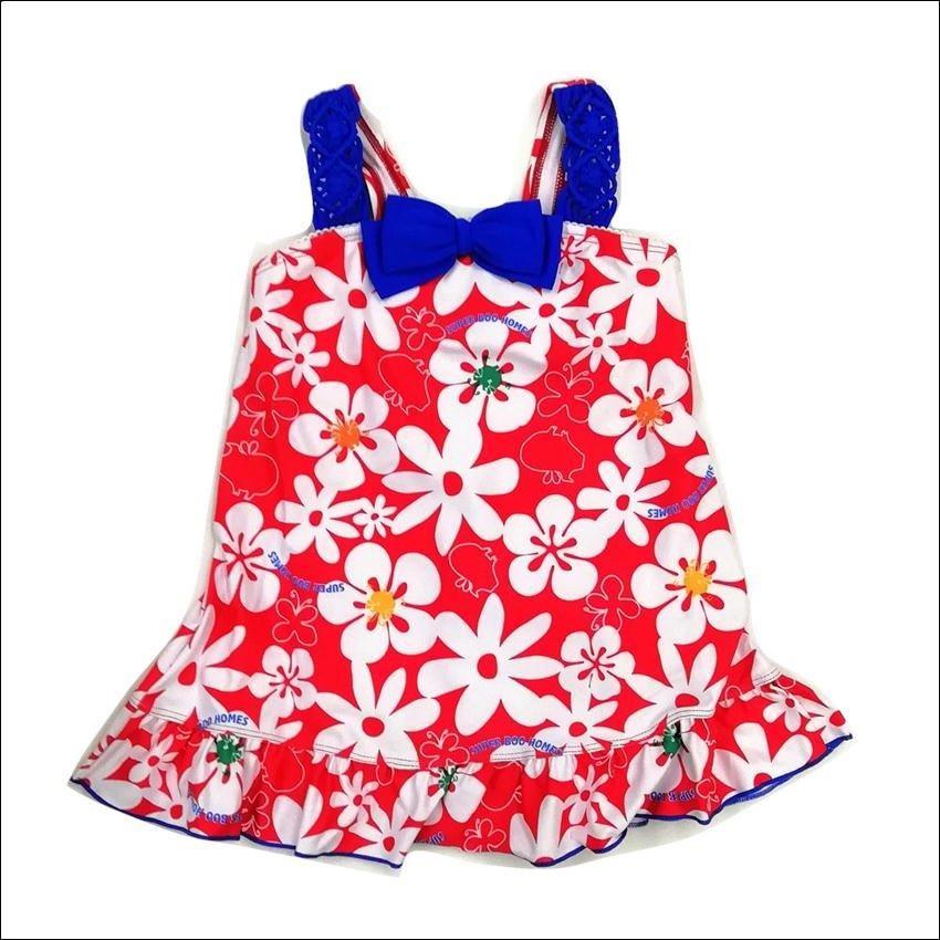 水着 女の子 スーパーブーホームズ 花柄 フラワー SUPER BOO HOMES ブランド水着 女児 スイムウエア 夏 サマー 海 プール