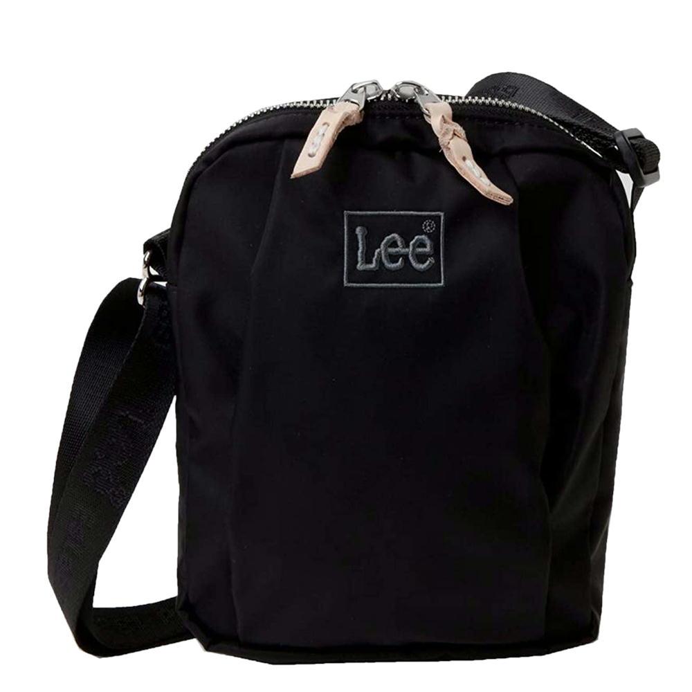 リーナイロンツイルショルダーバッグ 縦型軽量 Leeロゴスクエア斜め掛けバッグ Leeサコッシュ 0425506
