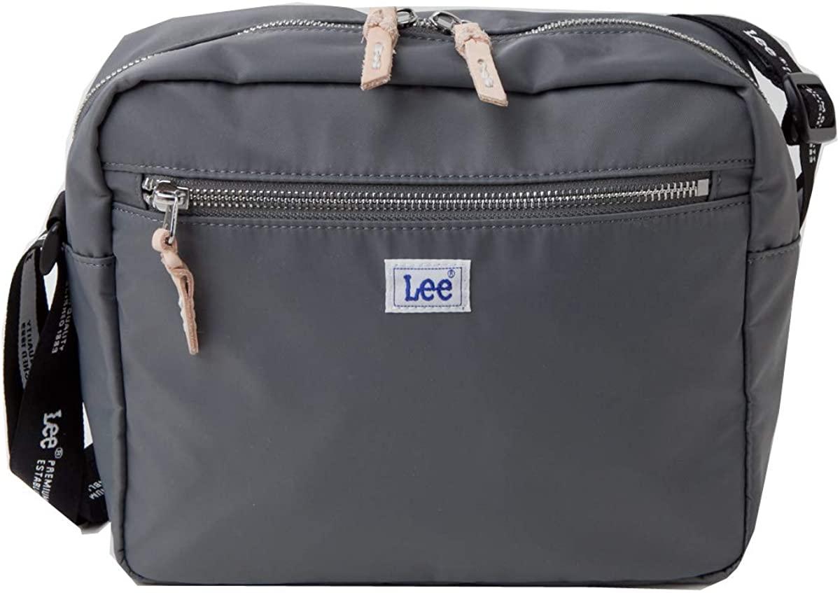LEEナイロンツイルショルダーバッグ 軽量 Leeロゴスクエア斜め掛けバッグ リーサコッシュ 0425505