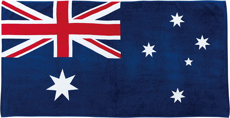 国旗バスタオル 50×100cm チアージャパンビーチタオル 丸眞 日本/アメリカ/イギリス/フランス/オーストラリア/カナダ/ドイツ/イタリア