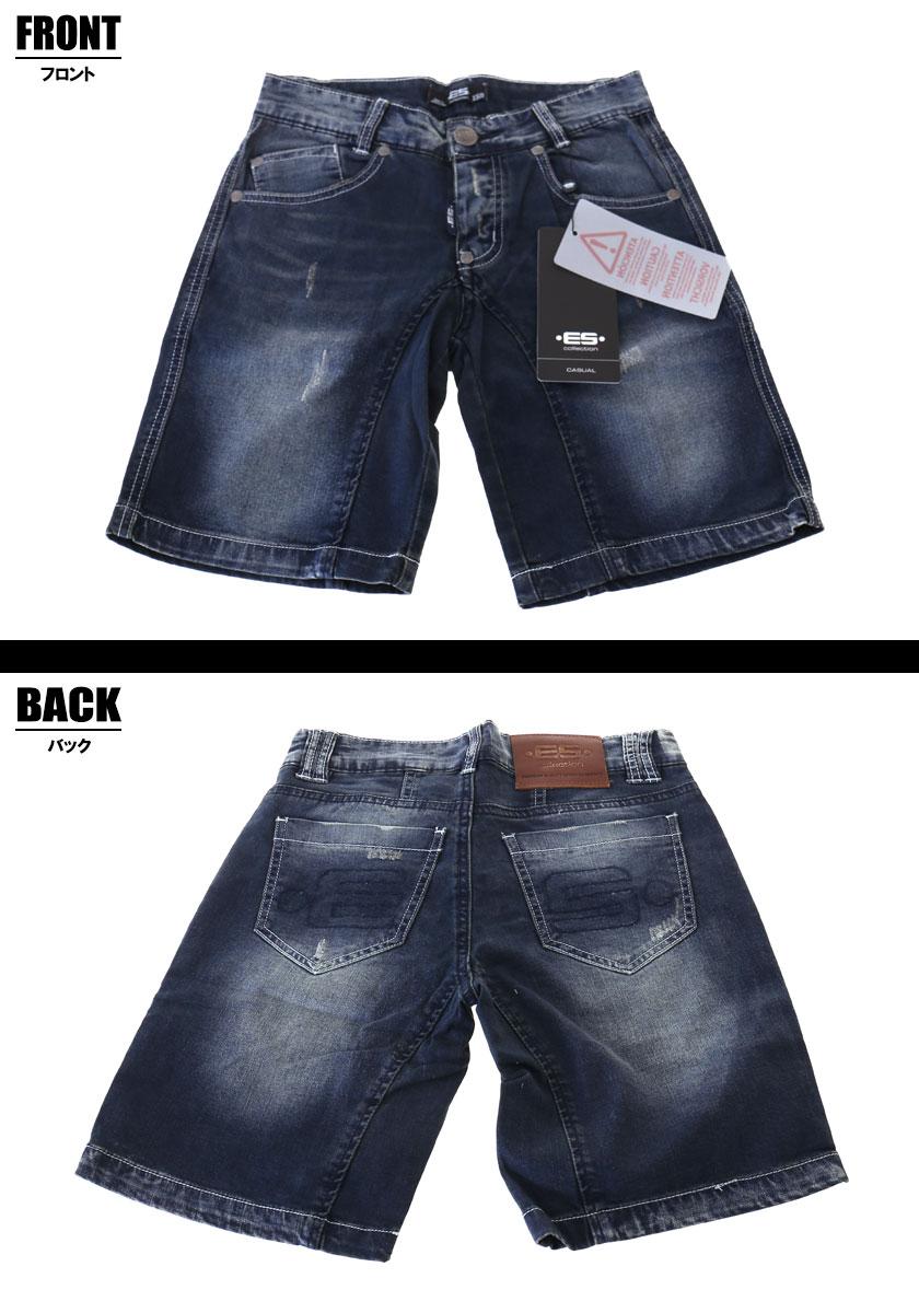 EScollection/イーエス・コレクション MID LENGTH SHORT JEANS ジーンズパンツ デニム ジーパン メンズ ファッション ボトムス