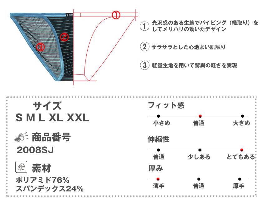 【G-Station/ジーステーション】光沢パイピング 薄さ 0.15mm グリーンファイバー 軽量薄手 シースルーボーダー ビキニ メンズ 男性下着 透け 薄手 タグレス ブーメランパンツ