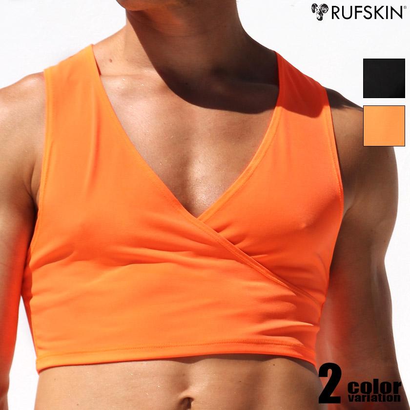 RufSkin/ラフスキン BARBARE Vネックショートタンクトップ 袖なし ノースリーブ スリーブレス メンズ ファッション トップス