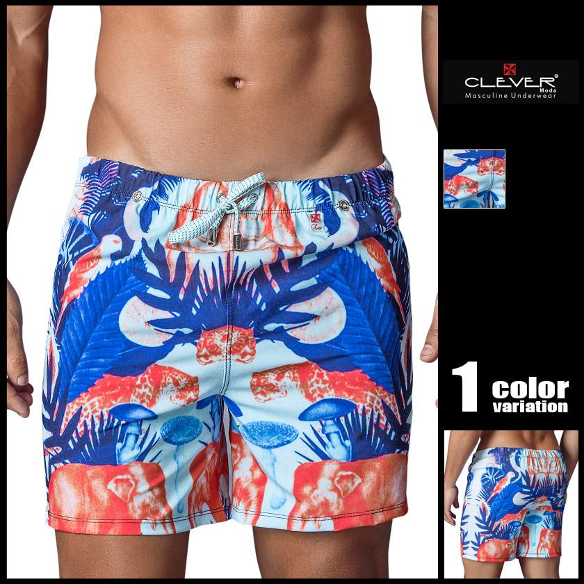 CLEVER/クレバー スイムウェア サーフパンツ ボードショーツ メンズ水着 海水パンツ 海パン 男性水着 ビーチウェア