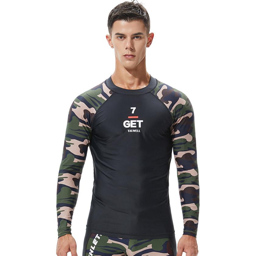 TAUWELL/タオウエール メンズ トップス ファッション スポーツウェア ジムウェア ロングTシャツ 長袖 トレーニングウェア 部屋着