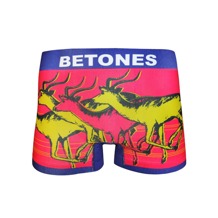 BETONES/ビトーンズ ANIMAL4 ボクサーパンツ 3D立体形成 シームレスボディ 吸湿速乾 機能性下着 ストレッチフィット ノンストレス フリーサイズ カラフル 男性下着 メンズ ローライズ パンツ プレゼントに最適! 【楽ギフ_包装】