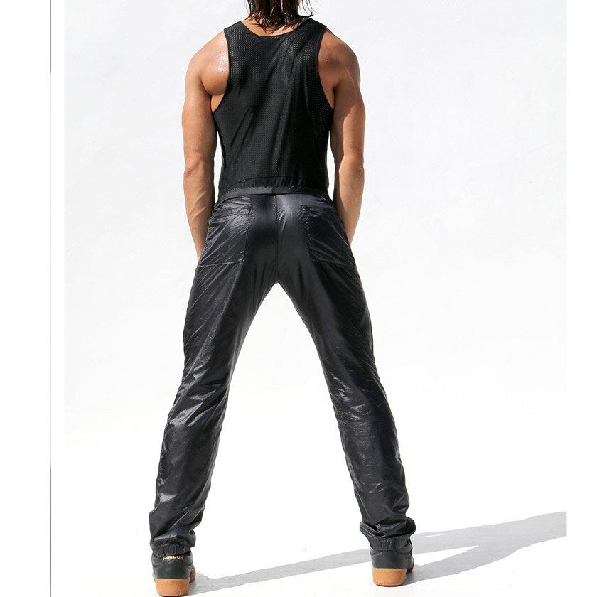 RufSkin/ラフスキン ROLL DOWN スケルトンアスレチックパンツ ハイライズ ロングパンツ メンズ ボトムス ファッション スポーツウェア ジムウェア
