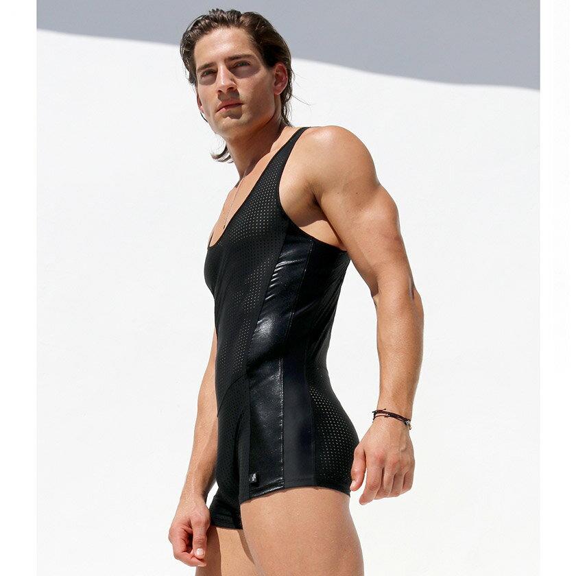 RufSkin/ラフスキン CRUDE スポーツ用ボディスーツ 上下一体型スポーツウェア メンズ ファッション スポーツウェア ジムウェア