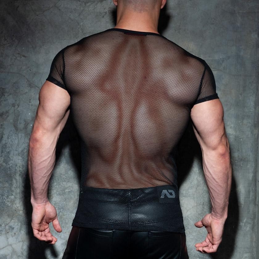 ADDICTED/アディクティッド MESH MIXED T-SHIRT メッシュ Tシャツ 半袖 メンズ ファッション トップス