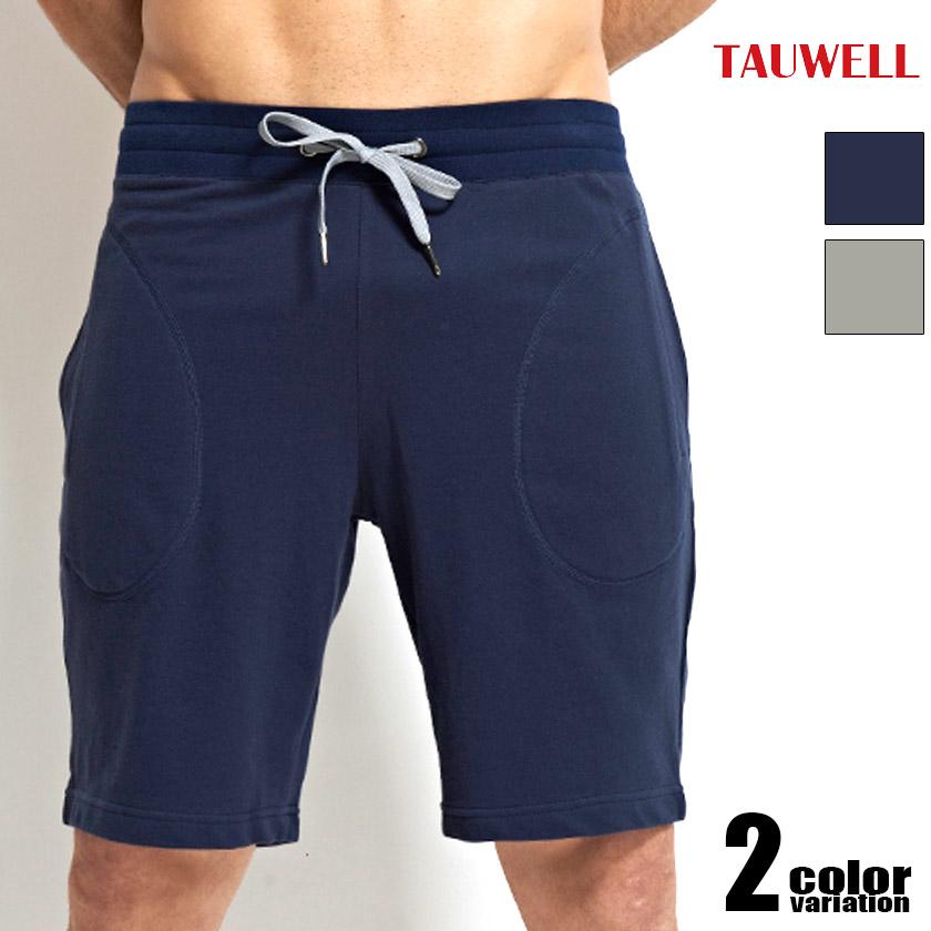 TAUWELL/タオウエール ファスナーポケット付き半ズボン ショートパンツ スポーツウェア ジムウェア 部屋着