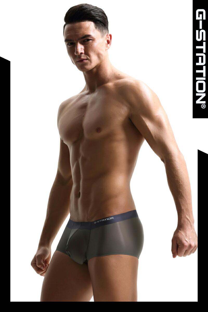【G-Station/ジーステーション】 ウルトラライトボクサーパンツ シームレス 3D立体ポーチ ボクサーパンツ メンズ  ローライズ 男性下着