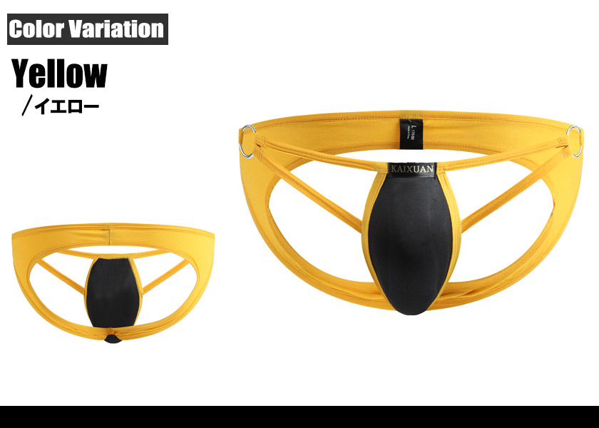 WJ/ダブルジェイ インナーカップ&金属リング付き ボリュームアップ Oバック 男性下着 メンズ パンツ セクシー