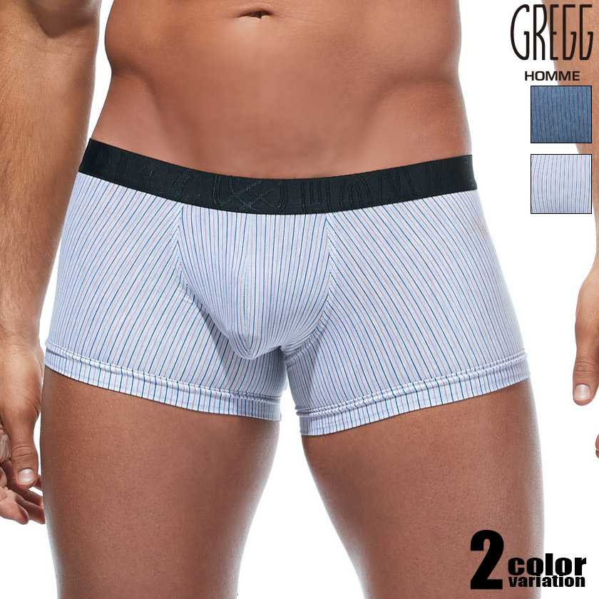 GreggHomme/グレッグ・オム FEEL IT TRUNK ボーダー柄 ストライプ柄 ボクサーパンツ 男性下着 メンズ パンツ
