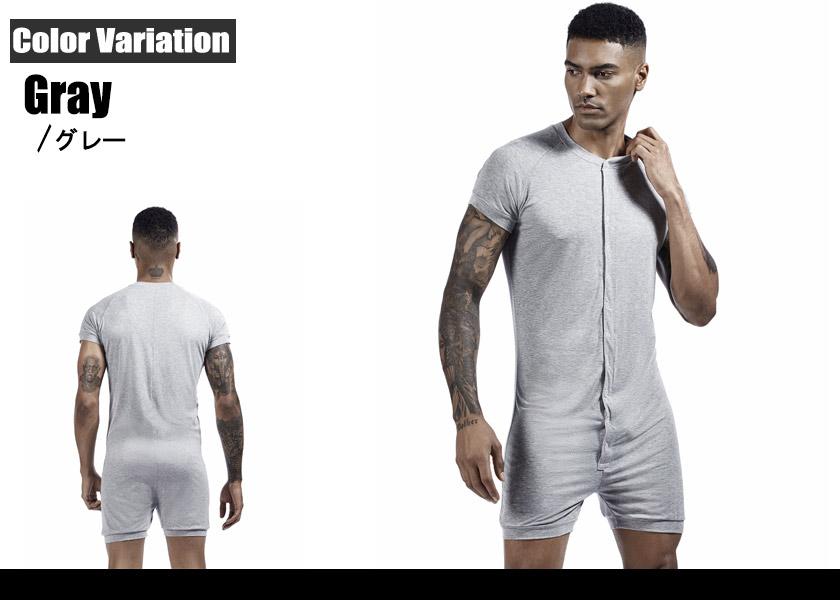 TAUWELL/タオウエール ソリッドソフト 柔らかユニオンスーツ スナップボタン ユニオンスーツ インナーシャツ 男性下着 メンズ トップス