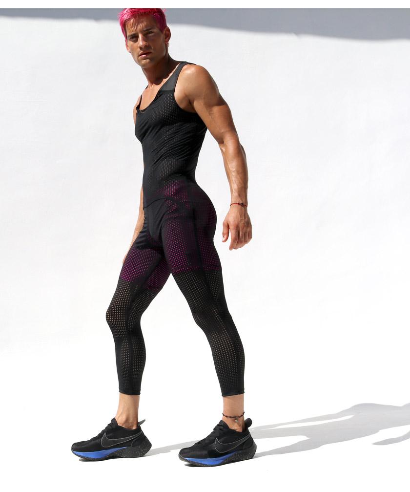 RufSkin/ラフスキン MAGMA 上下一体型 メッシュスポーツウェア シングレット レスリングウェア型インナー 男性下着 メンズ パンツ ショルダーボクサーパンツ 上下一体型