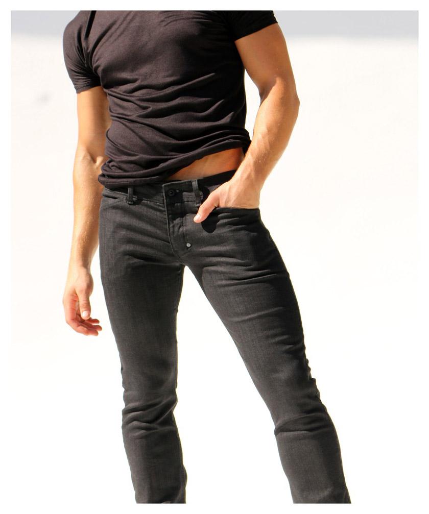 【Rufskin/ラフスキン】BRIAR スリムストレートレッグ ブラック スキニーデニムジーンズパンツ
