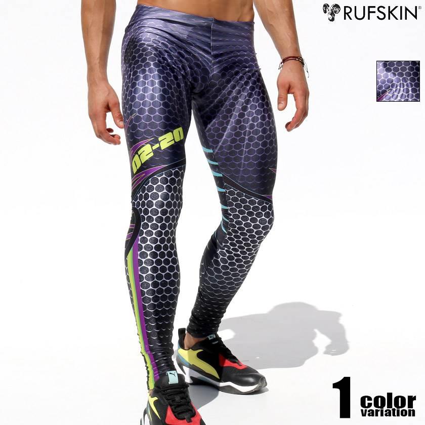 RufSkin/ラフスキン FISSURE プリント グラフィック アスレチックパンツ スポーツレギンス メンズ ボトムス