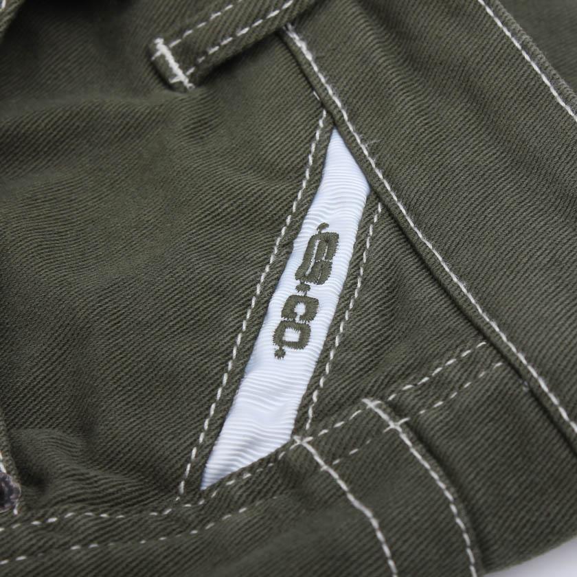 【ESコレクション】メンズファッションCOLORED KNEE SHORT JEANS/デニム カラーハーフパンツ