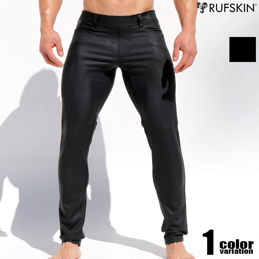 RufSkin/ラフスキン MORRISON フェイクレザーボトムス メンズ 合成皮革 合皮